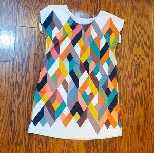 12PM by Mon Ami Geometric Print Tunic Sz M